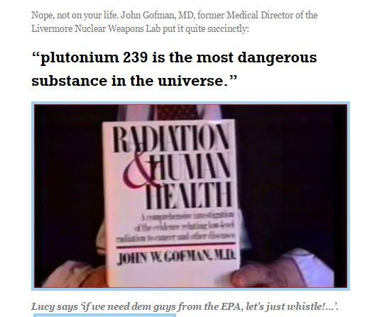 Radiation and Health PU239 etc