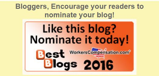 WORKERSCOMP BLOG RECOGNITION EVENT March 2016