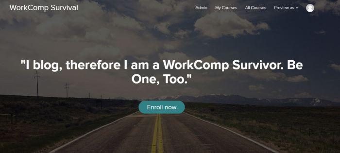 i blog therefore i am a work comp survivor watch for e course