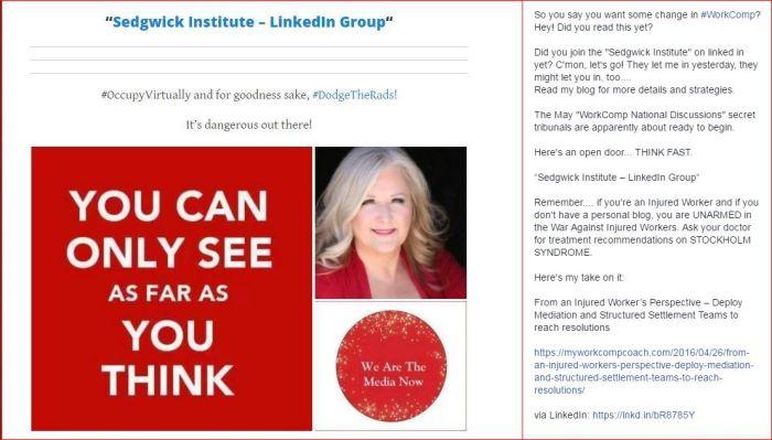 Sedgwick Institute   FB post  4 27 2016