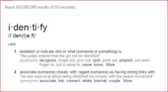 identify definition